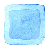 Blue watercolor square frame