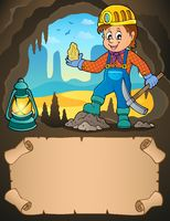 Small parchment and miner with ore