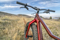 Salsa Mukluk fat bike on a single track trail