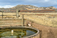 cattle water tank in COlorado foothills