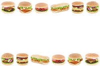 Hamburger Cheeseburger Fast Food Textfreiraum Copyspace