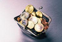 Purse with many coins