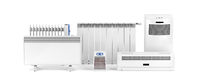 Electric heaters on white