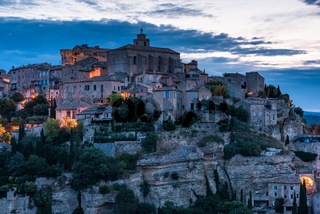 Gordes town in Provence,France at twilight