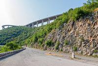 Highway viaduct close-up