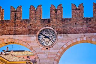 Verona city walls detail view