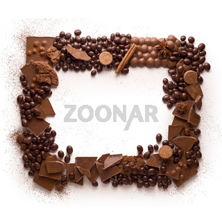 Chocolate frame.