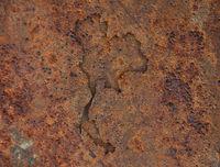 Karte von Thailand auf rostigem Metall - Map of Thailand on rusty metal