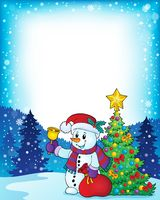Christmas snowman topic image 5