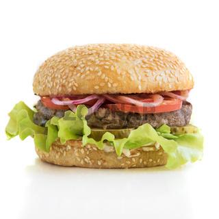 Tasty classical burger