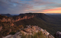 Narrowneck Sunset Blue Mountains
