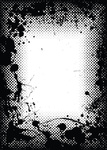 halftone grunge ink splat border