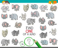 find one of a kind with elephant characters