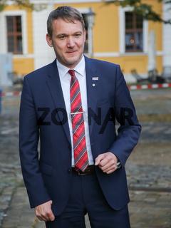 Andre Poggenburg ( Landesvorsitzender AfD Sachsen-Anhalt) auf der Wahlkampfveranstaltung am 12.09.2017 in Magdeburg