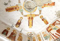 fresco in the interior of the rock-hewn church Daniel Qorqor, Gheralta region, Tigray, Ethiopia