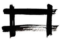 Black frame of brush strokes