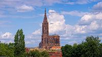 Kathedrale in Strassburg im Elsass - Strasbourg cathedral in  Alsace