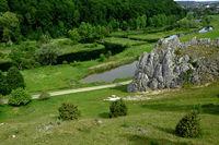 swabian alb; Valley Eselsburger Tal; Germany;