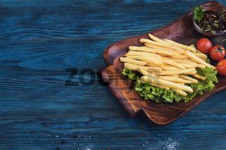 Fried potato at plate