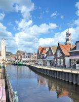 Town of Lemmer at Ijsselmeer,Frisia,Netherlands