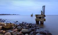 Old jetty at Hvide Sande harbor