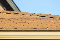 Roof of House with Concrete Tiles.