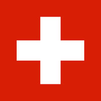 Fahne der Schweiz - Colored flag of Switzerland