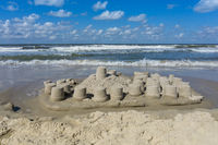 sand castle at beach