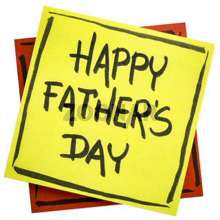 happy father day on sticky note