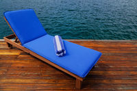 Outdoor reclining seat on deck