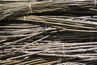 Willow rods bundled