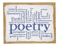 poetry word cloud on art canvas