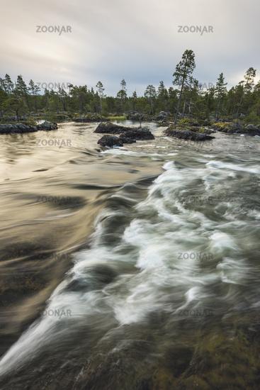 Morning mood, Pite river, Lapland, Sweden