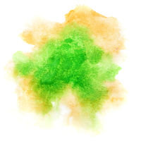 Green formless watercolor stain