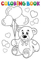 Coloring book Valentine theme 7