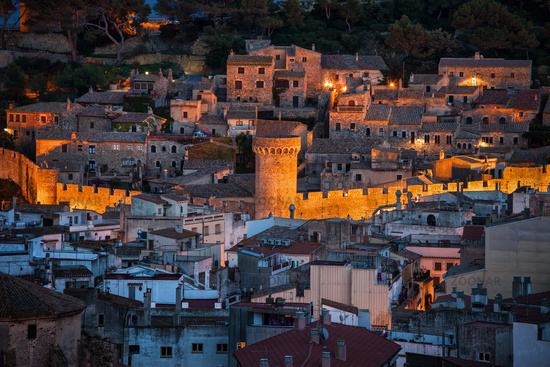 Medieval Old Town of Tossa de Mar at Night