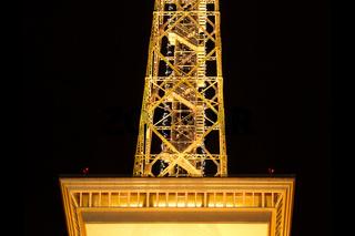 Berliner Funkturm. Nachts