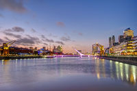 Puerto Madero in Buenos Aires, Argentina, at sunset