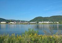 View to Village of Bad Breisig at Rhine River,Rhineland-Palatinate,Germany