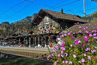 Railway station of Saanen, Bernese Oberland, Switzerland