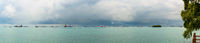 Panoramic view of the Singapore Strait