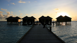 Water bungalows, Kandoludu, Maldives