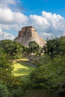 Pyramid of the Magician in Uxmal, Yucatan, Mexico