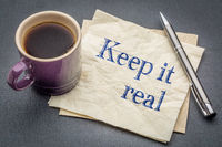 Keep it real napkin concept