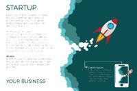 Flat Design business Startup