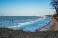 Steilküste an der Ostseeküste bei Warnemünde
