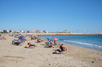 Naufragos beach in the Torrevieja resort city. Costa Blanca. Spain