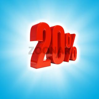 20 Percent Sign