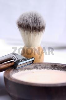 Razor and brush