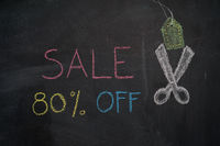 Sale 80% off on chalkboard